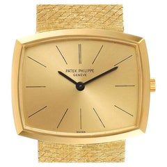 Patek Philippe Gondolo Yellow Gold Champagne Dial Vintage Men's Watch 3528