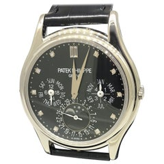 Patek Philippe Grand Complications Perpetual Black Diamond Dial Watch 5140P-013