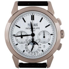 Patek Philippe Grand Complications Perpetual Calendar Chronograph White Gold B&P