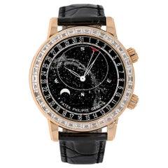 Patek Philippe Grand Complications Rose Gold Gem Celestial Watch 6104R-001