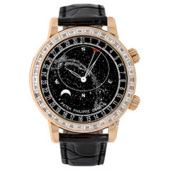 Patek Philippe Grand Complications Rose Gold Gem Celestial Watch 6104R-001