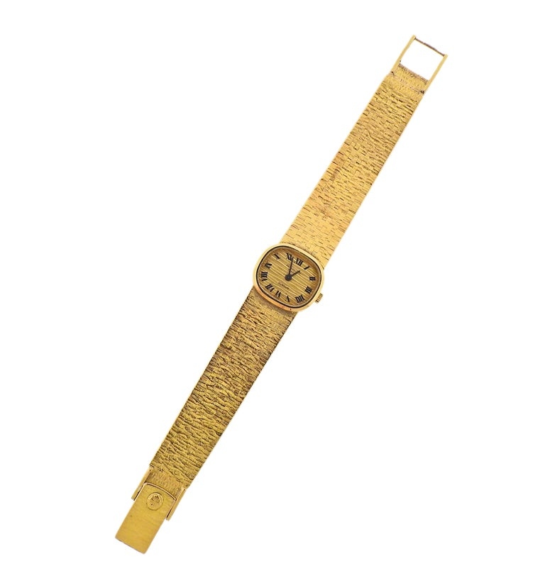 Patek Philippe Gubelin Gold Ladies Watch In Excellent Condition For Sale In New York, NY