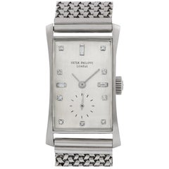 Patek Philippe Hour Glass 1593, Silver Dial, Certified and Warranty