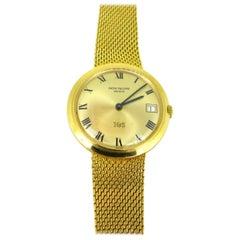 Patek Philippe IOS Million Dollar Yellow Gold Automatic Wristwatch, circa 1970