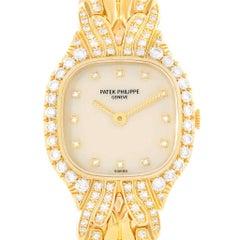 Patek Philippe La Flamme 18 Karat Yellow Gold Diamond Ladies Watch 4815/3