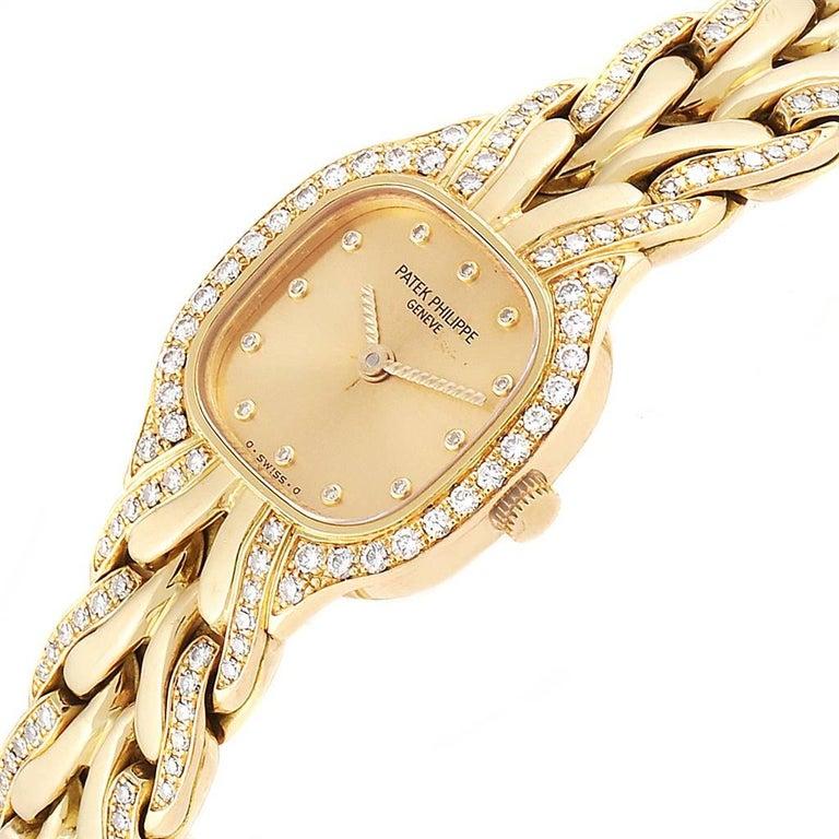 Patek Philippe La Flamme 18 Karat Yellow Gold Diamond Ladies Watch 4715 For Sale 1