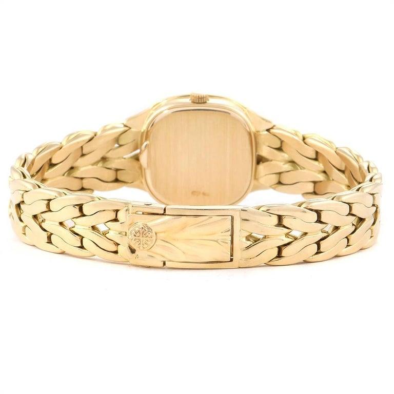 Patek Philippe La Flamme 18 Karat Yellow Gold Diamond Ladies Watch 4715 For Sale 2