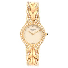 Patek Philippe La Flamme 18 Karat Yellow Gold Diamond Ladies Watch 4816
