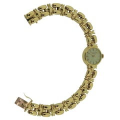 Patek Philippe Ladies 18 Karat, Yellow Gold Art Deco Bracelet Watch, circa 1940s