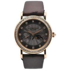 Patek Philippe Ladies 18 Karat Yellow Gold Moonphase Chronograph Watch Ref. 4858