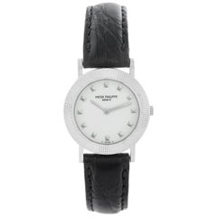 Patek Philippe Ladies Calatrava 18 Karat White Gold Watch 4919G
