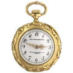 Patek Philippe Ladies Heavily Chased Art Nouveau Gold Pendant Watch