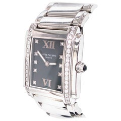 Patek Philippe Ladies Twenty 4 Ref 4910 10 Diamond Dial Stainless Steel