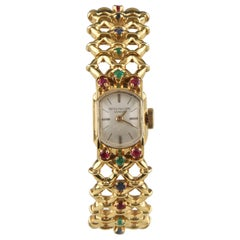 Patek Philippe Ladies Yellow Gold Ornate Gubelin Band Manual Wristwatch