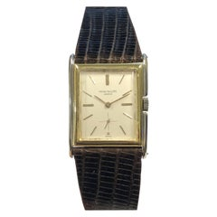 Patek Philippe Large White and Yellow Gold Stepped Case 1920s Wristwatch