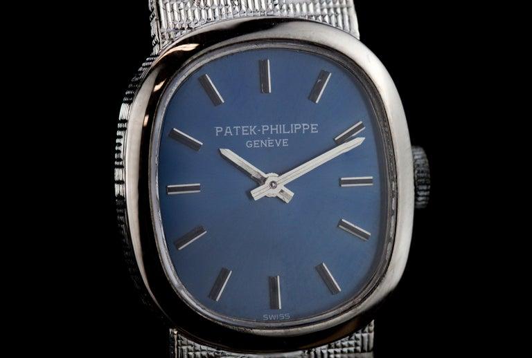 Patek Philippe Mini-Ellipse 18 Karat White Gold Manual Winding Ladies Watch For Sale 1