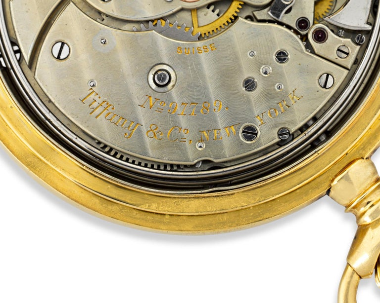 Patek Philippe Minute Repeater Pocket Watch by Tiffany & Co. In Excellent Condition For Sale In New Orleans, LA