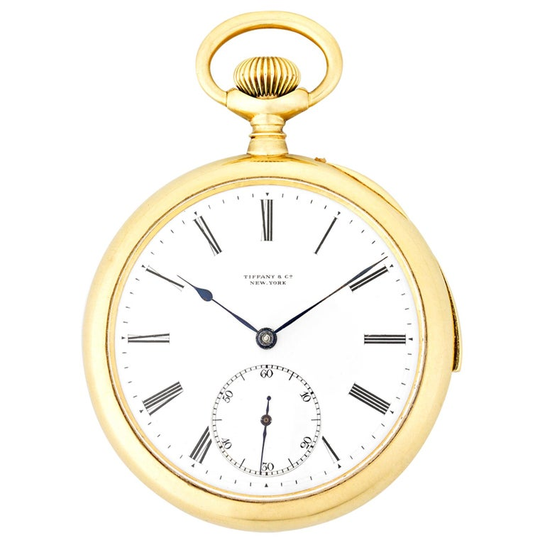Patek Philippe Minute Repeater Pocket Watch by Tiffany & Co. For Sale