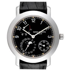 Patek Philippe Moonphase Power Reserve White Gold Automatic Watch 5055