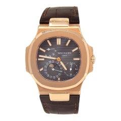 Patek Philippe Nautilus 18 Karat Rose Gold Men's Watch Automatic 5712R-001