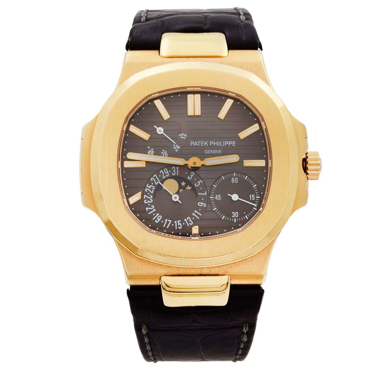 Patek Philippe Nautilus 18 Karat Rose Gold Moon Phase Automatic Watch 5712R-001