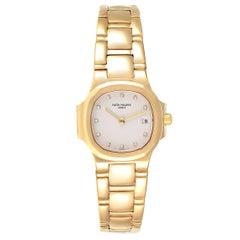 Patek Philippe Nautilus 18 Karat Yellow Gold Diamond Ladies Watch 4700