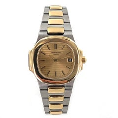 Patek Philippe Nautilus 18 Karat Yellow Gold Stainless Steel Quartz Watch