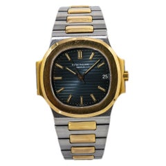 Patek Philippe Nautilus 3800/1 Blue Dial Mens Watch with Papers
