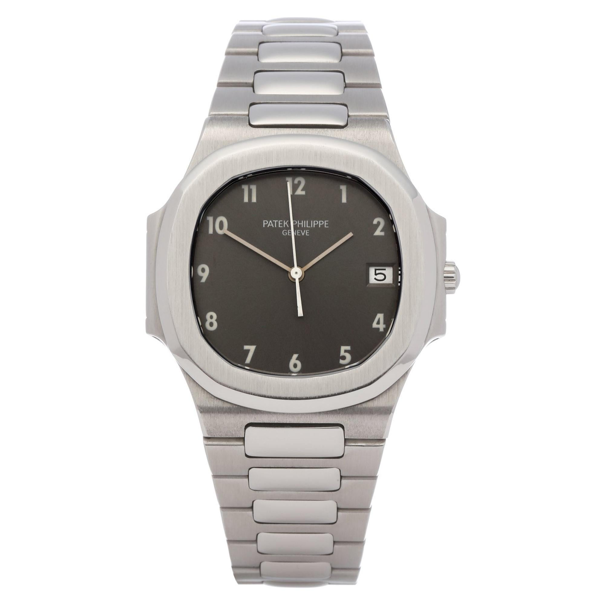 Patek Philippe Nautilus 3900 Unisex Stainless Steel Rare Grey Dial Watch
