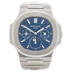 Patek Philippe Nautilus 5740G-001 Men's White Gold Perpetual Calendar Watch
