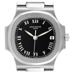 Patek Philippe Nautilus Black Dial Automatic Steel Men's Watch 3800 Papers