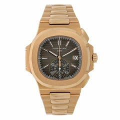 Patek Philippe Nautilus Chronogaph Rose Gold Black Dial Watch 5980/1R-001