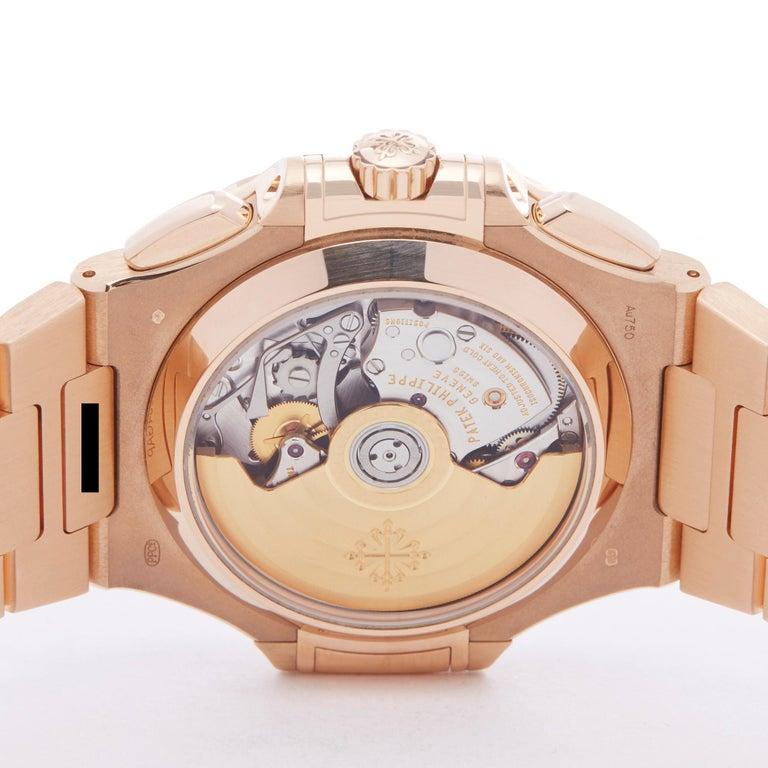 Patek Philippe Nautilus Chronograph 18k Rose Gold 5980/1R-001 For Sale 2