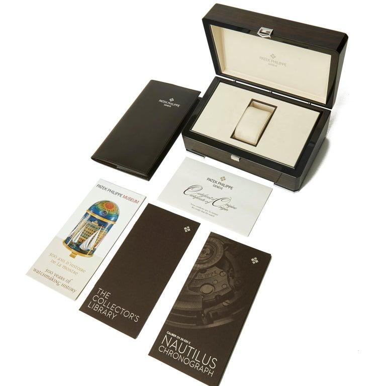 Patek Philippe Nautilus Chronograph 18k Rose Gold 5980/1R-001 For Sale 3