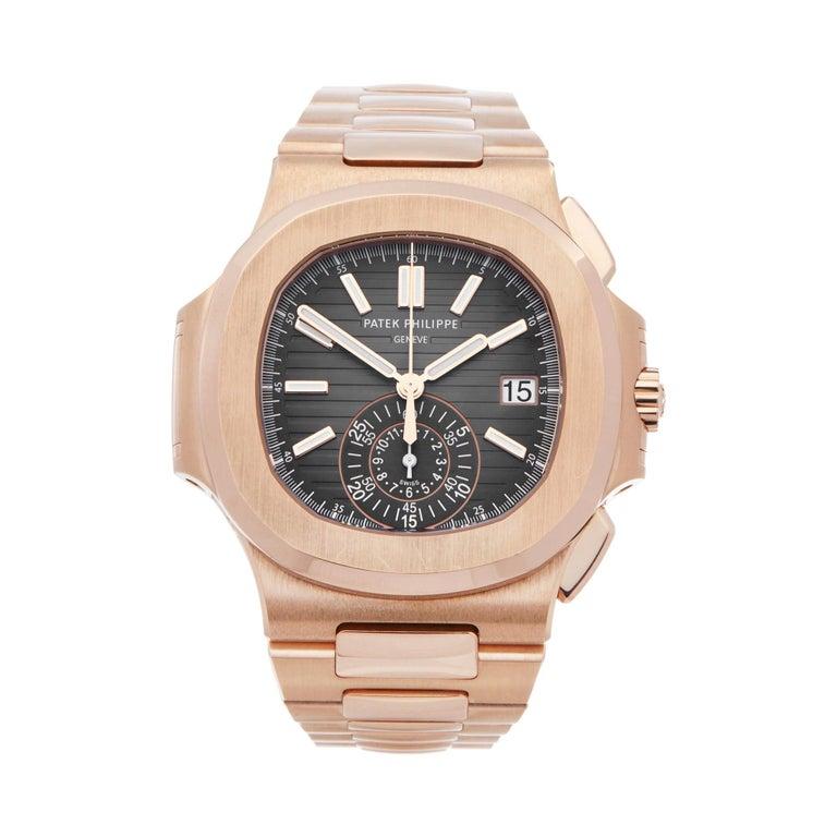 Patek Philippe Nautilus Chronograph 18k Rose Gold 5980/1R-001 For Sale