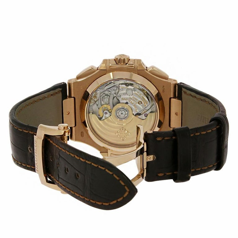 Patek Philippe Nautilus Reference #:5980R-001. The Patek Philippe Nautilus was first introduced in 1978 at a time when watch cases were getting thinner, the Nautilus flew against this trend and soon became one of the brand's most iconic watch