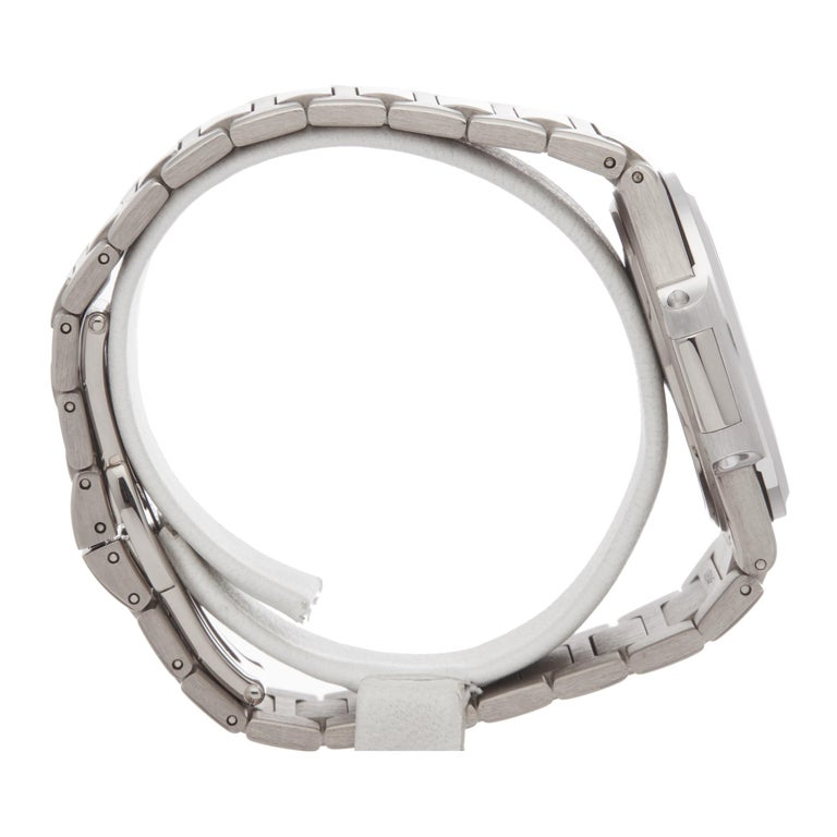Women's Patek Philippe Nautilus Diamond 18 Karat White Gold 7010G For Sale