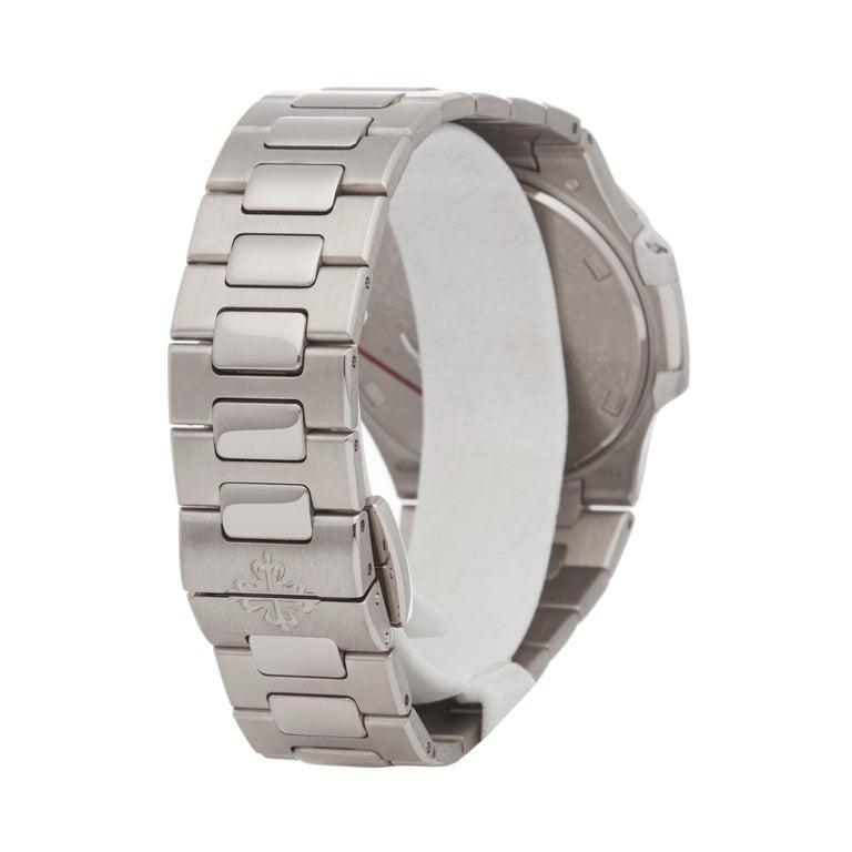 Patek Philippe Nautilus Diamond 18 Karat White Gold 7010G For Sale 1