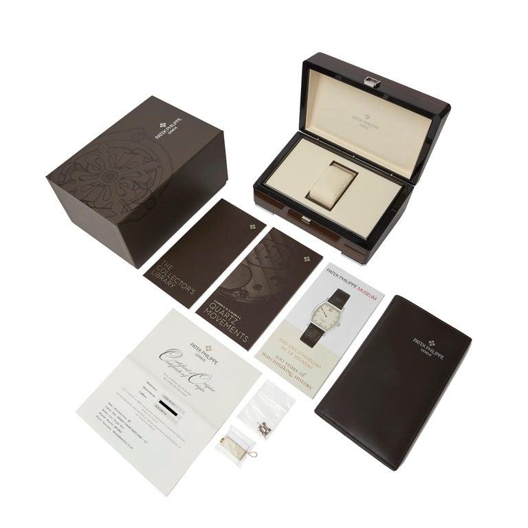 Patek Philippe Nautilus Diamond 18 Karat White Gold 7010G For Sale 3
