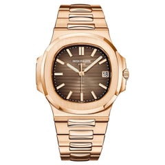 Patek Philippe Nautilus Rose Gold 5711/1R-001 Dark Brown Dial Bracelet