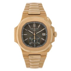 Patek Philippe Nautilus Rose Gold Chronograph Watch 5980/1R-001