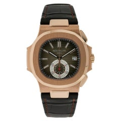 Patek Philippe Nautilus Rose Gold Chronograph Watch 5980R-001