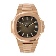 Patek Philippe Nautilus Rose Gold Self-Winding Brown Dial Watch 5711/1R-001