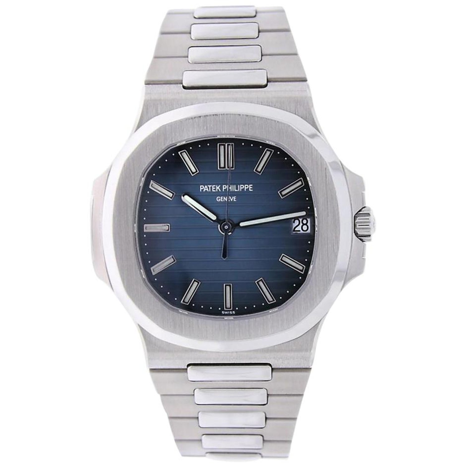 Patek Philippe Nautilus Stainless Steel Blue Dial Watch 5711 1a 010
