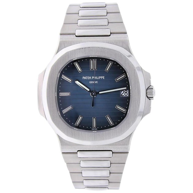 Patek Philippe Nautilus Stainless Steel Blue Dial Watch 5711/1A-010 For Sale