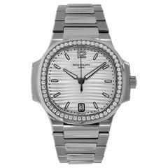 Patek Philippe Nautilus Stainless Steel Diamond Bezel Watch 7118/1200A-010