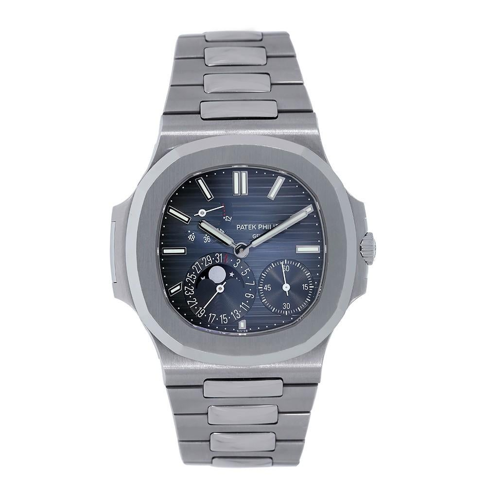 Umv Calendario.Patek Philippe Nautilus Stainless Steel Blue Dial Watch 5711 1a 010