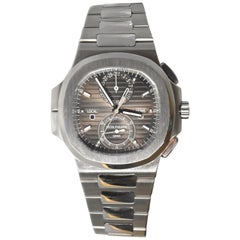 Patek Philippe Nautilus Travel Time Chronograph Stainless Steel Watch 59901A-001