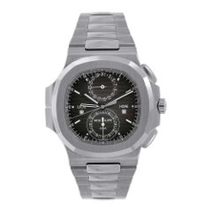Patek Philippe Nautilus Travel Time Chronograph Steel Watch 5990/1A-001