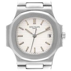 Patek Philippe Nautilus White Dial Automatic Steel Men's Watch 3800